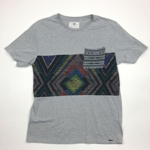 On The Byas Men's T-shirt Size L Gray SG7